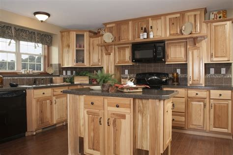 rustic hickory cabinets black laminate countertops ge rustic hickory kitchen cabinets solid wood kitchen
