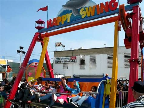 coney island swing ride happy swing luna park youtube