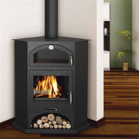Corner Fireplaces For Sale by Bronpi Atenas Corner Wood Burning Cooking Stove