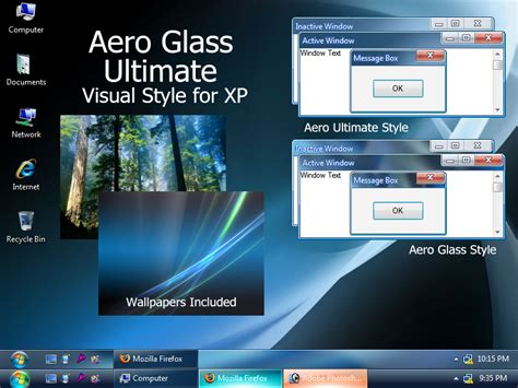 windows 7 ultimate themes download for xp aero glass ultimate visual style for windows7