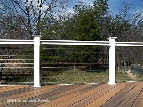 wire banister deck railing gallery hnh deck and porch llc 443 324 5217