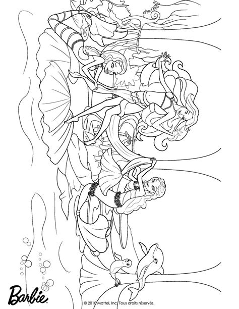 barbie mermaid pages for girls coloring pages