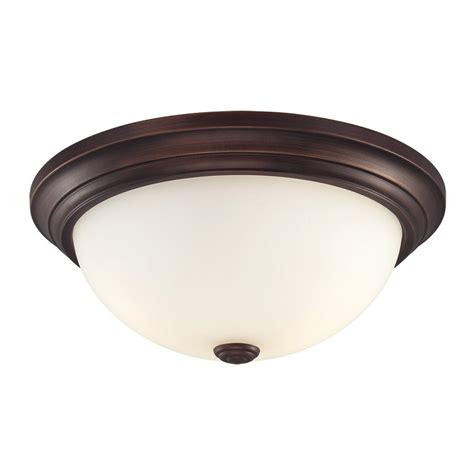 Ceiling Flush Mount Lighting Shop Millennium Lighting 13 In W Rubbed Bronze Ceiling Flush Mount Light At Lowes