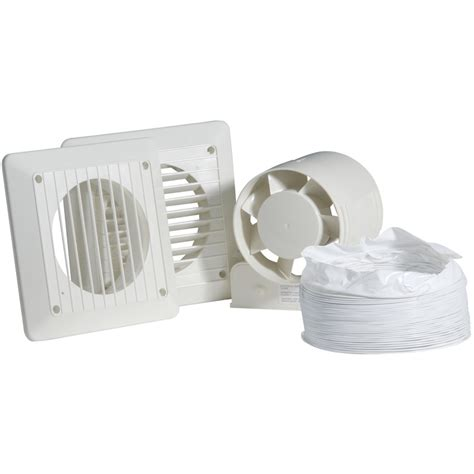 Shower Fans by 100mm In Line Shower Extractor Fan Kit Timer Toolstation