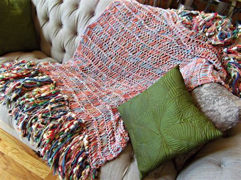 big knit blanket knit blanket big fringe knit blanket home decor by