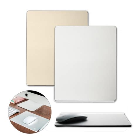 Metal Mouse Pad Rubber 240 X 180 X 3mm Silver metal aluminium alloy slim 220x180x2 mm mouse pad with non slip rubber base sale banggood