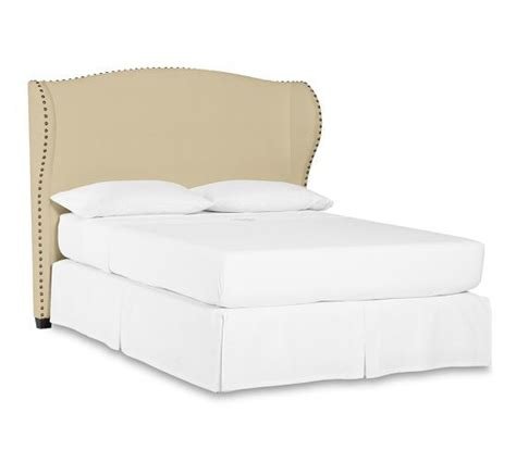 Raleigh Upholstered Wingback Bed Headboard With Nailhead Bed Frames Raleigh Nc