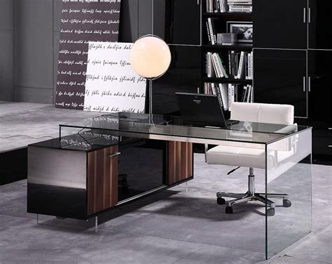glass office desk furniture modern office desk 02 desks