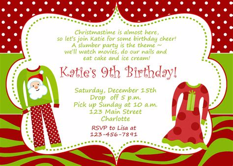 christmas themed birthday invitations best party ideas