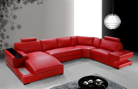 modern red leather sectional sofa modern red leather sectional sofa