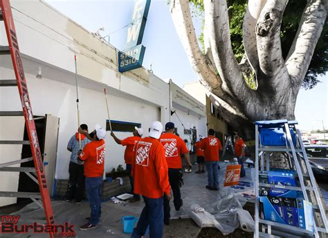 home depot helps renovate burbank veterans of foreign wars