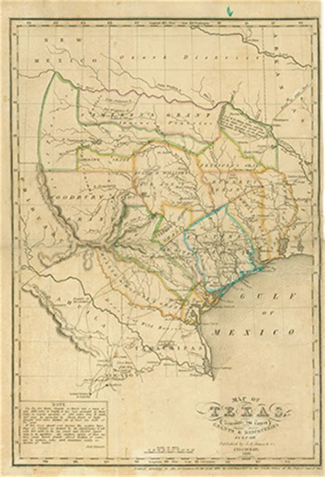 1836 texas map dorothy sloan books auction 23