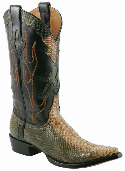 mens python boots mens resistol ranch by lucchese python boots