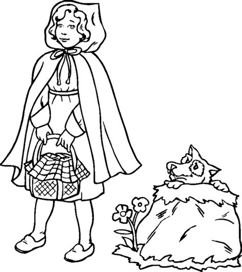 printable version of little red riding hood little red riding hood coloring pages coloring home