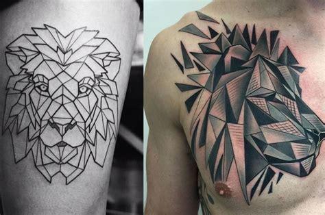 imagenes tatuajes de leones tatuajes animales geometricos leon