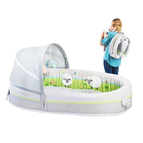 portable infant bed lulyboo travel bassinet premium portable baby lounge