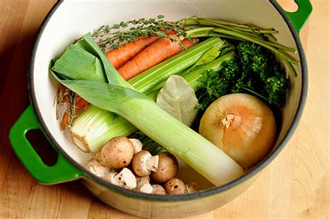 vegetables broth how to make vegetable stock cooking lessons from the