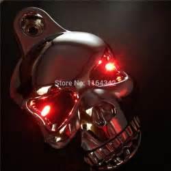 Cover Ban Harley Davidson 1 chrome led skull horn carburetor cover for harley davidson softail dyna sportster glide big