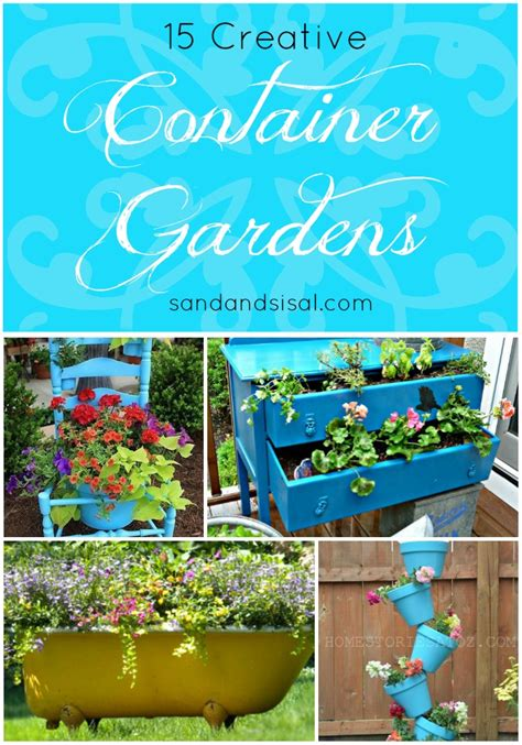 creative container gardens 1000 images about outdoor spaces storage on