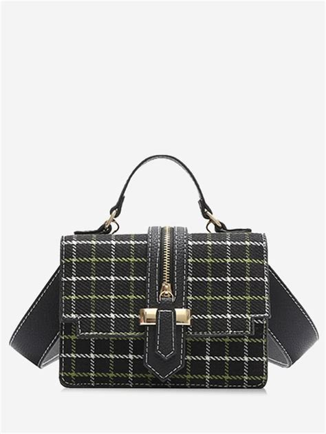 Tweed Crossbody Bag 2018 tweed checkered crossbody bag black in crossbody bags
