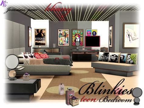 Sims 3 Bedroom Sets Khany Sims Chambre Blinkies Pour Ado Sims 3 Blinkies