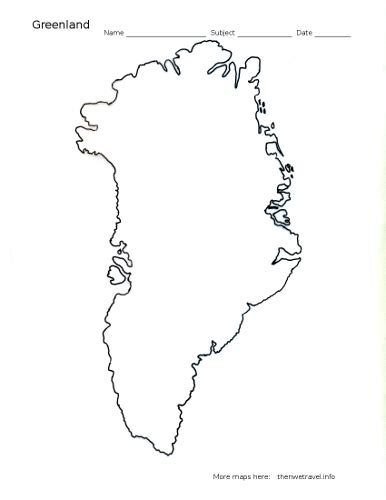 greenland map coloring page greenland outline map home pinterest outlines