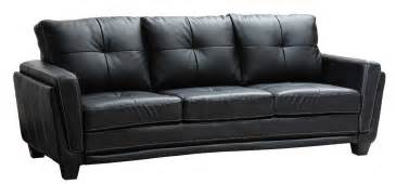 ebony couch black leather couch