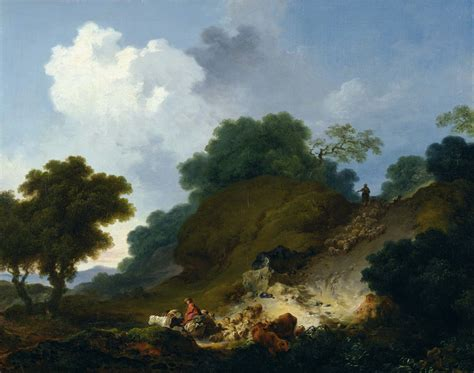 Landscape In History Jean Honor 233 Fragonard Landscape With Shepherds And Flock