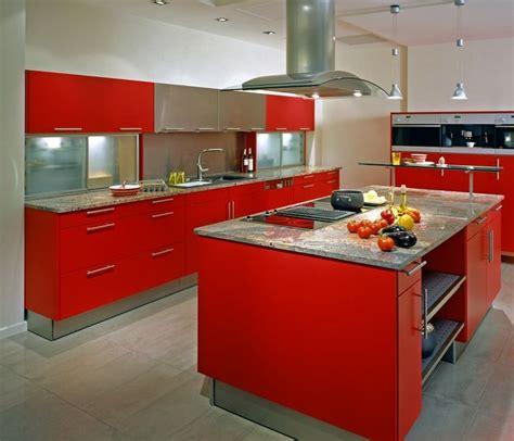 red kitchen design ideas nowoczesne kuchnie z wyspą