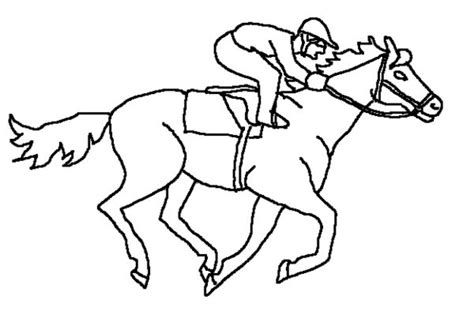 coloring pages of race horses race horse coloring pages picture 4 sports race horse