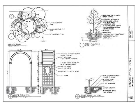 landscape detail drawings