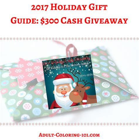 Cash Giveaway 2017 - adult coloring 101 color your world