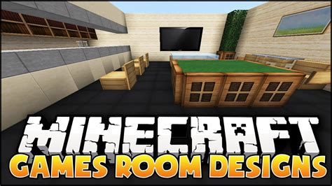 Minecraft: Games Room Designs & Ideas   YouTube