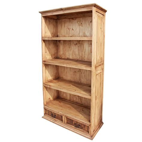 rustic pine collection largeclassic bookcase lib13