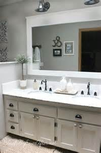 bathroom mirror remodel 10 diy ideas for how to frame that basic bathroom mirror