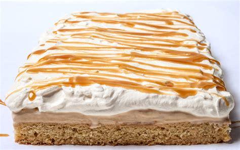vanillasalted caramel ice cream cake  whipped cream recipe chowhound