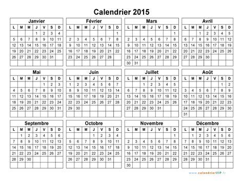 I Calendrier 2015 à Imprimer Calendrier 2015 224 Imprimer Gratuit En Pdf Et Excel