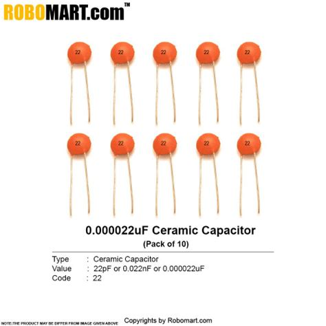 how to tell if a ceramic capacitor is bad 22pf ceramic non polarized capacitor india robomart