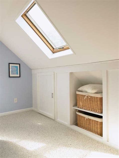 Knee Wall Storage Bathroom 26 Creative And Smart Attic Storage Ideas To Try Shelterness