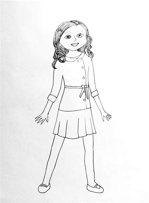 coloring pages of american girl doll saige american girl doll coloring pages for inspiration