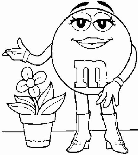 M Coloring Pages by M And M Coloring Pages Coloringpagesabc