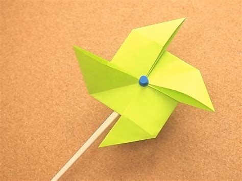 Origami Windmill - how to make an origami pinwheel 11 steps with pictures