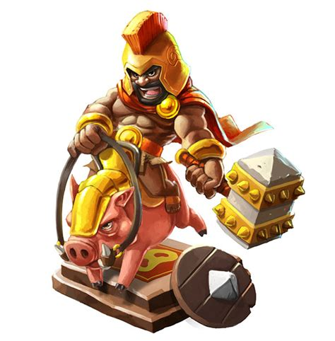 3d Puzzle Coc Clash Of Clans Box clash of clans characters pictures weneedfun