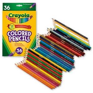 crayola colored pencils crayola 174 colored pencils set of 36