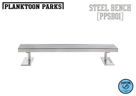 fingerboard bench planktoon parks quot steel bench quot ppsb01