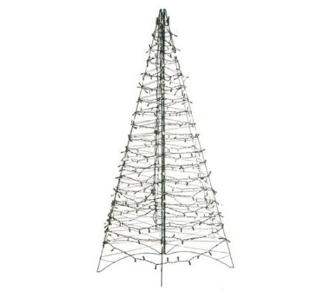pre lit 6 fold flat outdoor christmas tree by lori greiner