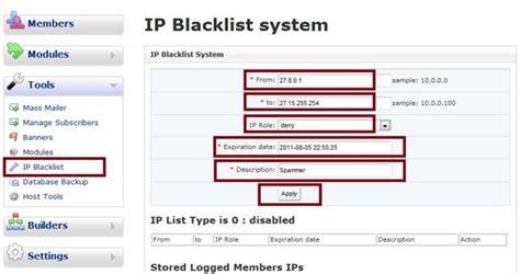 Ip Address Blacklist Lookup Blacklist Ip Ordinateurs Et Logiciels