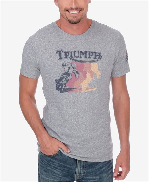 Lucky Lucky T Shirt lucky brand s retro triumph t shirt in gray for lyst