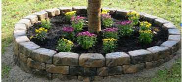 do it yourself stone raised flower bed