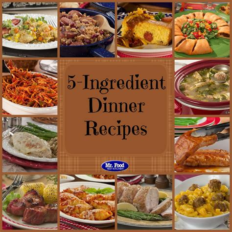 50 easy dinner recipes for two mrfood 5 ingredient recipes 39 simple 5 ingredient dinners mrfood